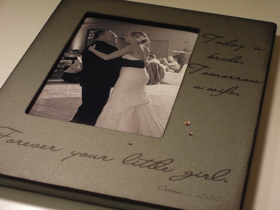 For my Father on my Wedding Day - Personalized Photo Frame - Gift from the Bride