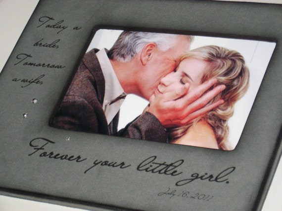 For my Father on my Wedding Day - Personalized Photo Frame - Gift from ...