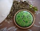 A Green As Green As Grass Pendant