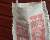 Grain Sack Messenger Bag Gun Shot Purse Feed Sack Purse Cross Body Canvas Cotton Gift Red White Blue Americana Unique Gift