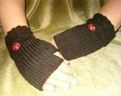 Pirate Fingerless Gloves, Free Shipping in US