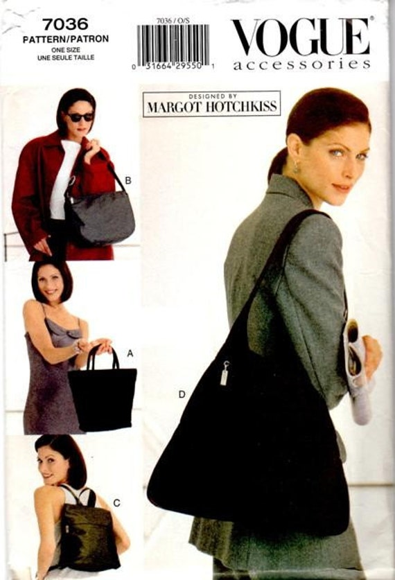 VOGUE 7036  ---  MARGOT HOTCHKISS HANDBAGS PATTERN
