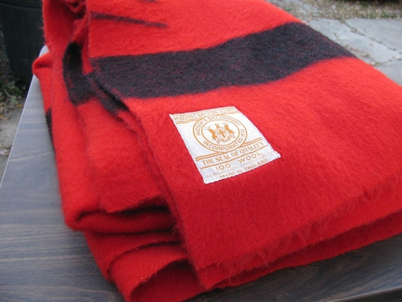 Red Hudson Bay Blanket Authentic
