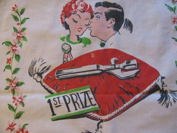 Humorous Vintage Kitchen Towel