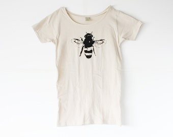 Womens Bee Shirt - Honey Bee - Bamboo - Organic shirt - Small, Medium, Large, XL- Clothing