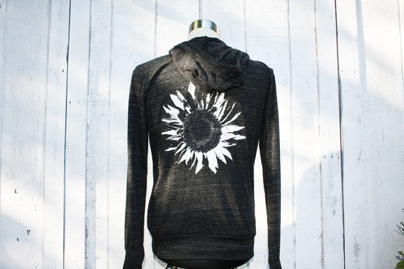 Hoodie - Sunflower - Black - Alternative Apparel - Unisex - Eco-Heather Black - Available in Small, Medium, Large, Extra Large, 2X