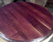 Lazy Susan, Deep Burgundy natural wine stain, recycled