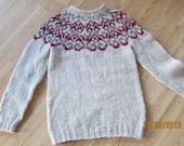 hand knitted Icelandic sweater
