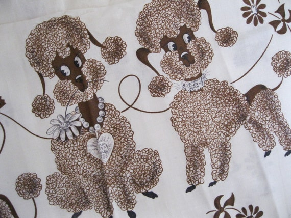 vintage poodle fabric with - photo #4