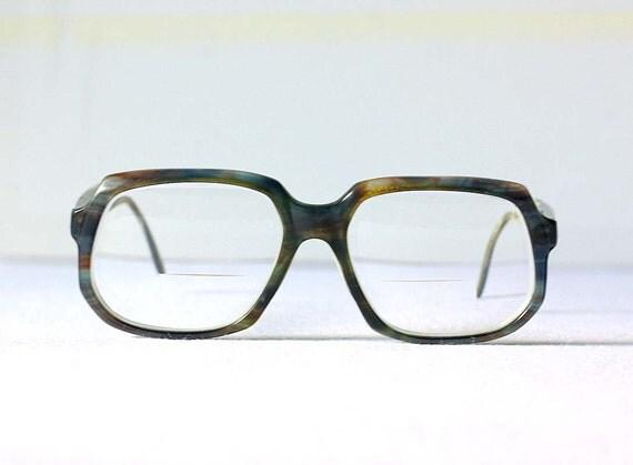 Eyeglass Frames For Heavy Prescriptions : Mens Heavy Vintage Retro Eyeglass Frames Thick by ...