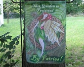 This Garden is Protected by Fairies   Garden Flag