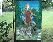 Freya, Norse Goddess Garden Flag