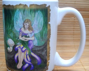 Mother and Child of the Fae 15 oz Coffee Mugs