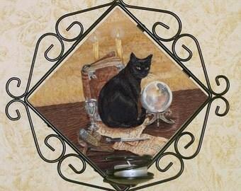 Art of Magic Black Cat Wall Sconce