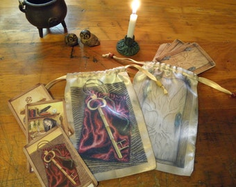 Key of Hecate, The Well Worn Path Oracle Bag or Tarot Bag
