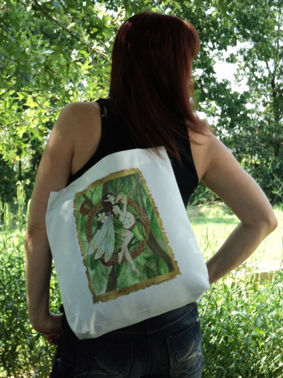 Celtic Apple Tree Fairy Tote Bag