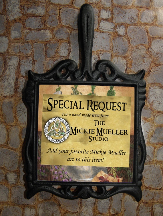 Special Request Magical Trivet Featuring Your Favorite Mickie Mueller Art