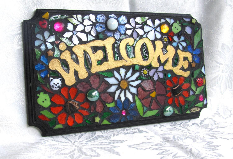 Mosaic Welcome Wall Art