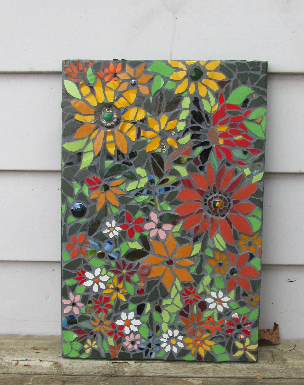 Art Décor: Mosaic Flower Mosaic WallArt Panel SHipping Is Free