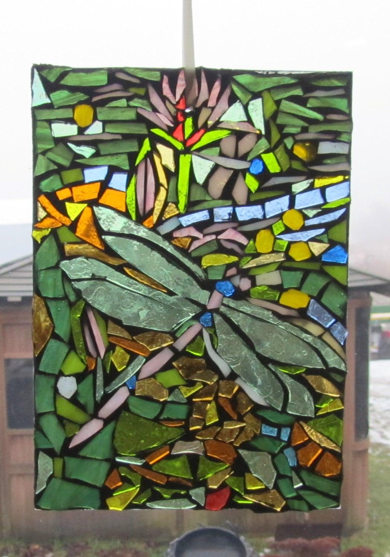 Art Décor: DRAGONFLY Mosaic WALL Art Panel Window Panel SUNCATCHER