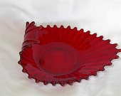 Scarce   Fostoria  Ruby Red Heirloom bowl hold for sheeow2