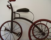 RESERVED Fof Beatriz1018  .Rare Child's Antique Victorian Tricycle