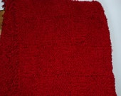 Red Blanket Throw, extra soft and fluffy