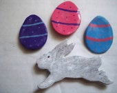 Easter, Ostara, Spring refrigerator magnets, set of four