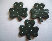 St Patricks Day Shamrock magnets, set of three