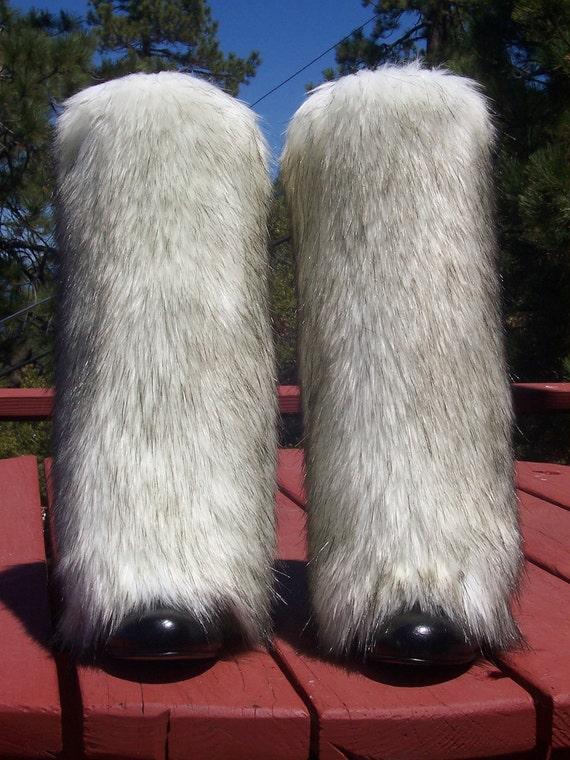 Luxurious Faux Fur Leg Muffs