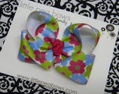 LARGE Boutique Twisted Bow - M2MG Ice Cream Flower