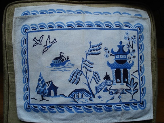 Vintage Blue Willow Placemats