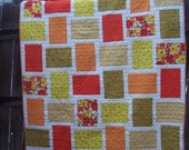 CLEARANCE - Hot Flash Twin Quilt - Orange and Yellow