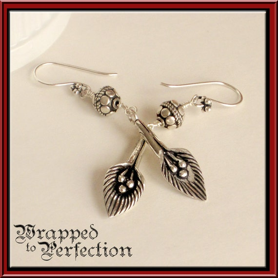 Calla Lily Silver Earrings  Modern Elongated Blooms with Bali STERLING SILVER  Flower Wedding Bride Dangle