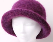 Electric Purple Rolled Brim Felted Hat