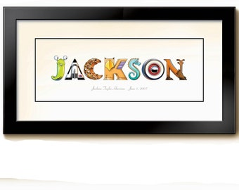 Personalized art for babies and children
