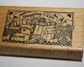 Shopping List Rubber Stamp