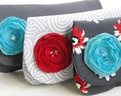 Special order for Noellrod Bridesmaids gifts, gray and white wedding, clutch, purse