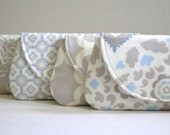 Wedding Clutch purses, Bridesmaids gifts set of 4 cornflower, taupe, champagne, capri wedding