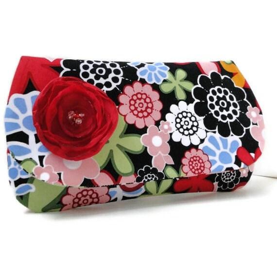 Bridesmaids gifts, clutch, purse, handbag, cosmetic bag, makeup bag black