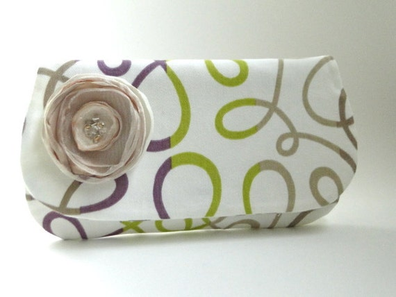 Clutch, Bridesmaids gifts, purple wedding, champagne, custom colors