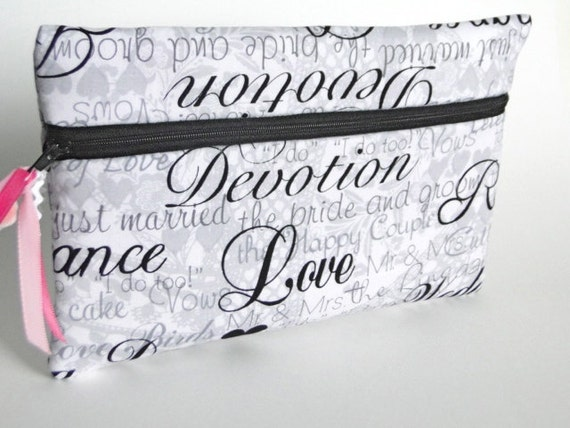 Cosmetic bag,wedding cosmetic bag, brides purse, Here Comes The Bride