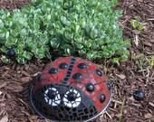 Art Glass Lady Bug Garden Art Mosaic
