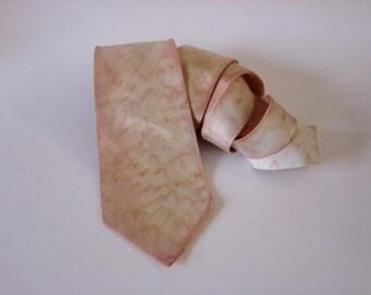 Just Peachy Handpainted Silk Men's Tie