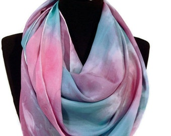 Happy Days Hand Painted Pure Silk Scarf