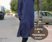 jacquard weave flax dress (more colour and size choice)-L10