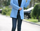 classic linen sky blue jacket(more colour and size choice)
