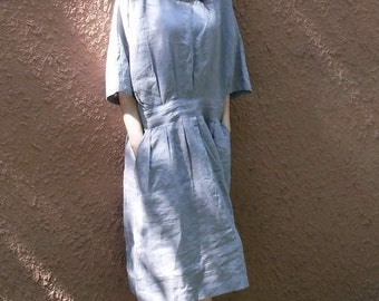 Loose linen dress (more colour and size choice)-C8