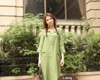 dream catcher - comfortable Green dress(more colour and size choice)