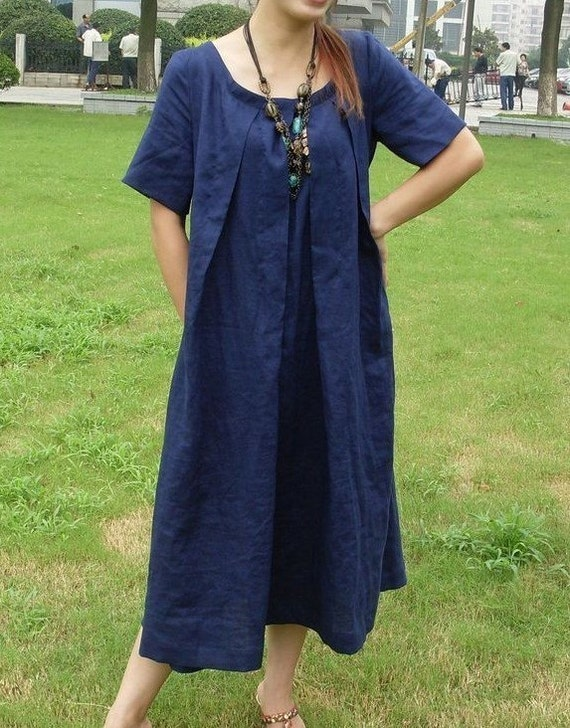 beautiful soul dark blue sundress (more colour and size choice)-A4